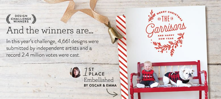 Minted 2015 Holiday Card Winners