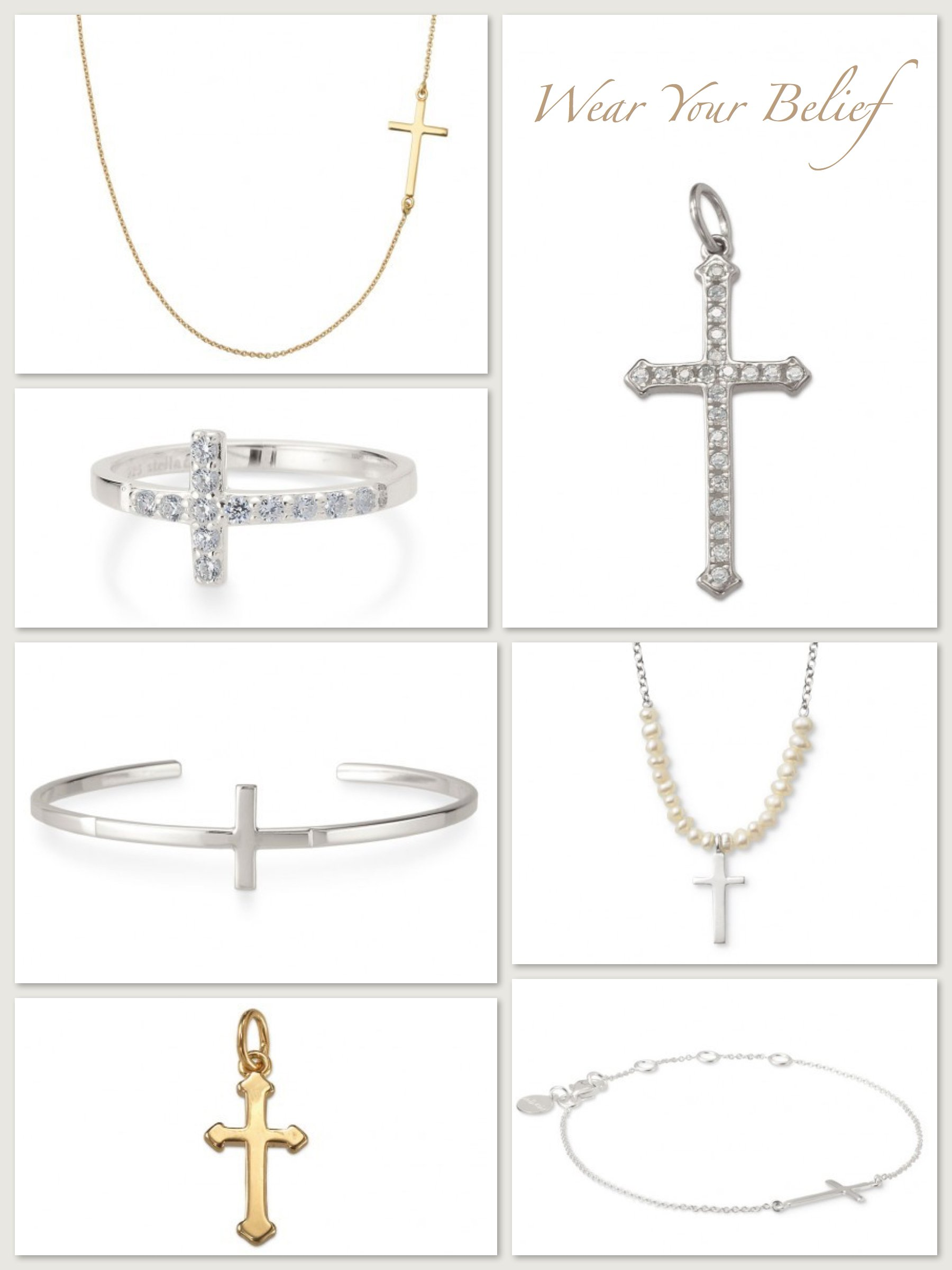 Wear Your Belief, Cross Jewelry