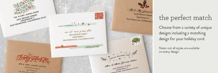 Minted Holiday Card Envelopes