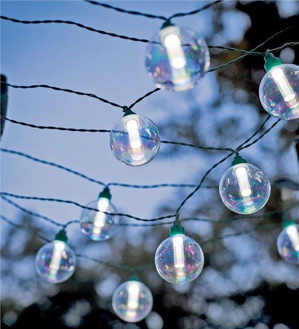 Solar-Powered Globe String Lights