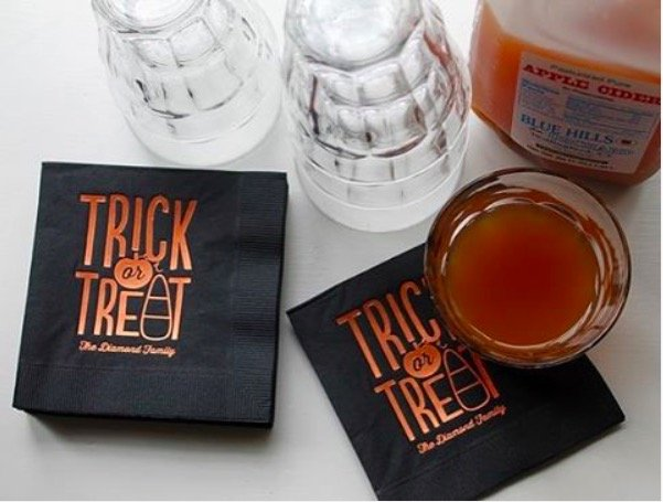 Trick or Treat Personalized Cocktail Napkins
