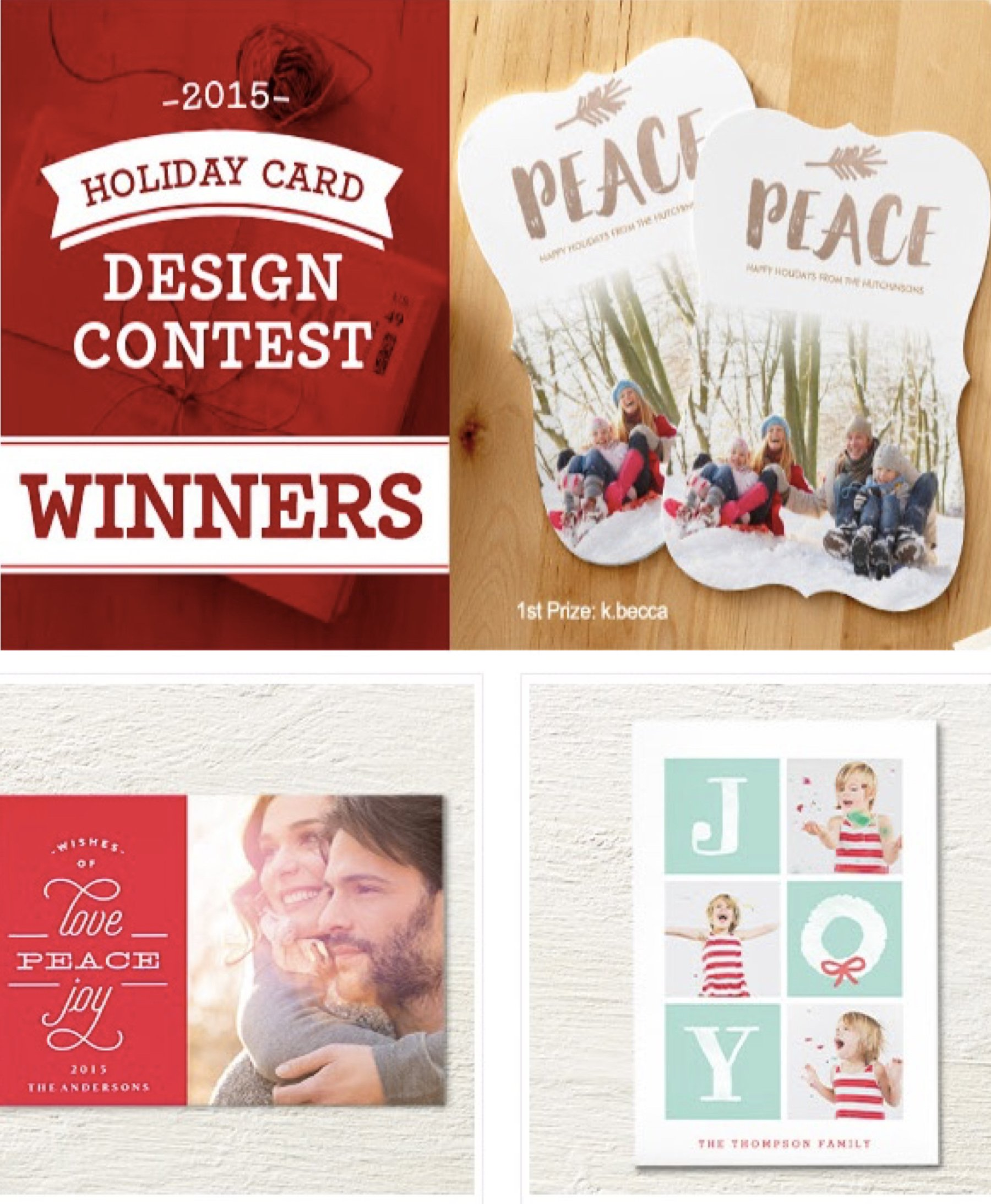 Dazzle Holiday Card Winners