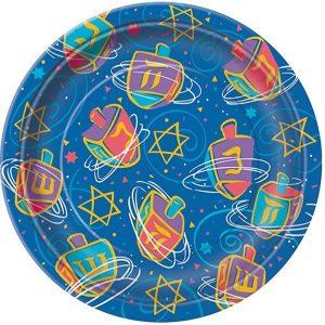 Festive Hanukkah Plates