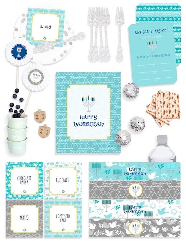 Hanukkah Party Supplies in a Box