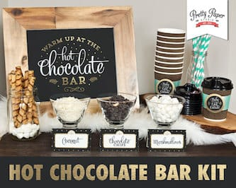 Hot Chocolate Bar Printable Kits