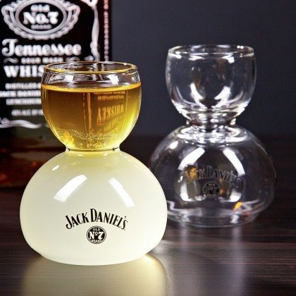 Jack Daniels Whiskey on Water Glasses