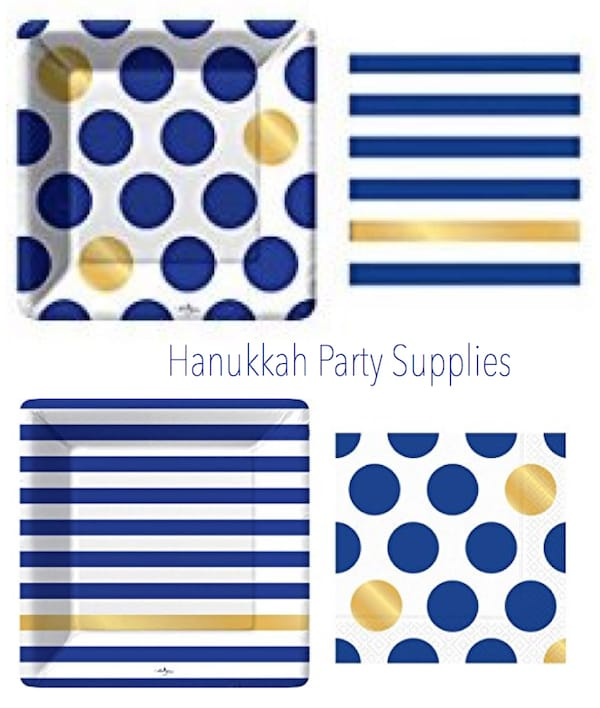 Navy and Gold Hanukkah Party Supplies