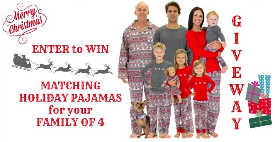 Family Holiday Pajama Giveaway