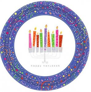 Playful Menorah Plates