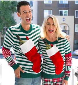 Stocking Stuffer Ugly Christmas Sweaters for Your Ugly Sweater Holiday Party!