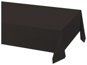 Black Velvet Tablecloth