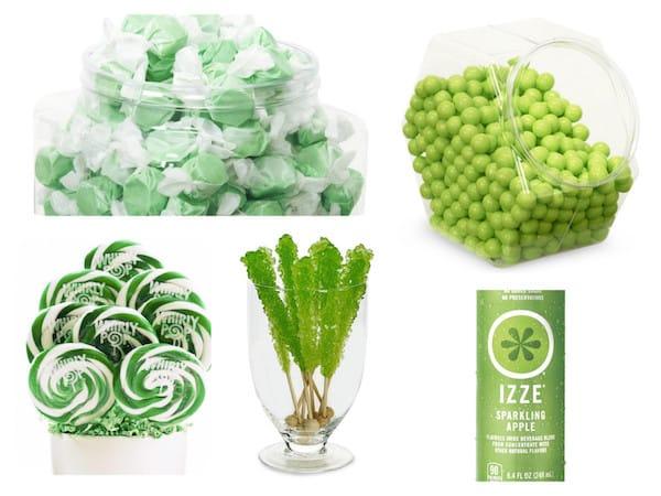 Green Candy Baby Shower Buffet Ideas