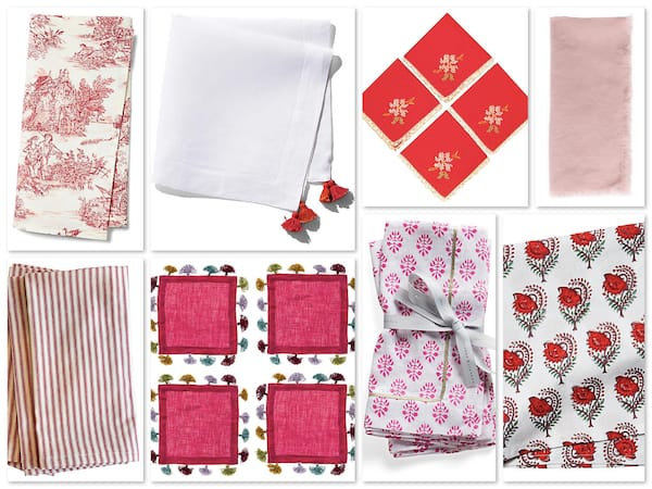 Red and Pink Napkins for Valentines Day