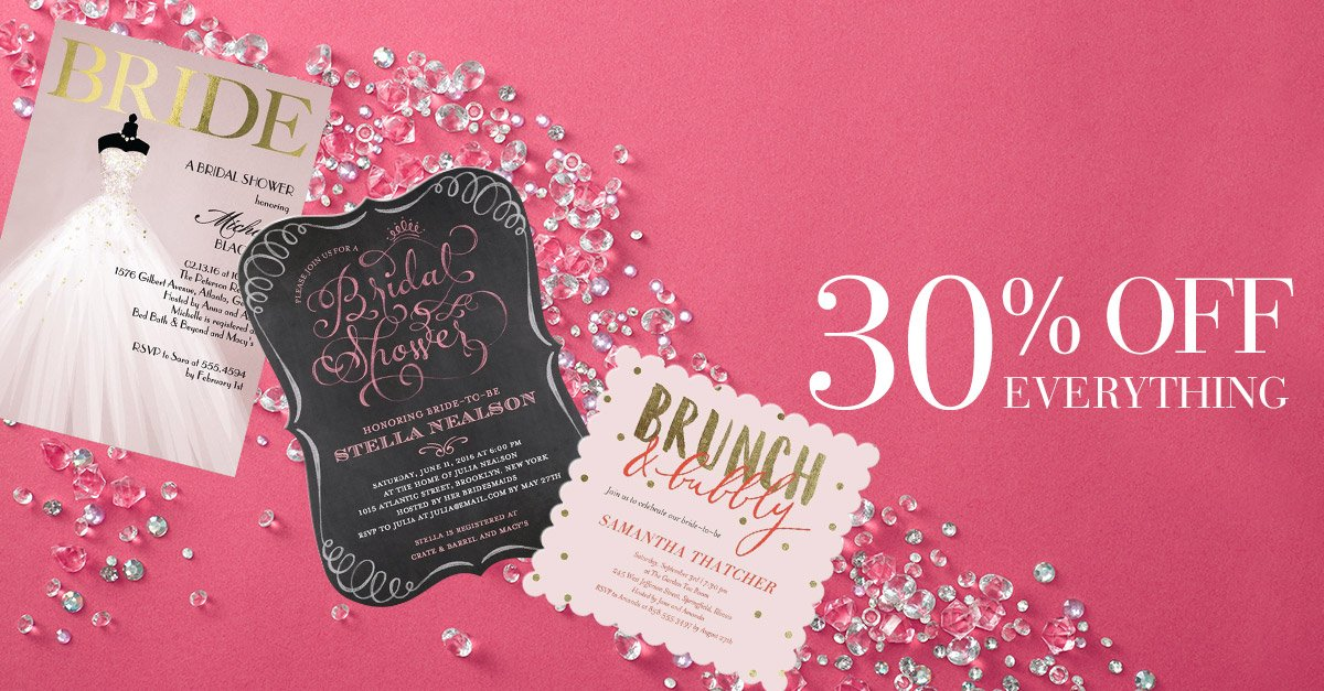 Champagne Brunch Bridal Shower Invitations
