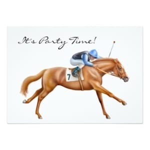 Thoroughbred Race Horse Party Invitation