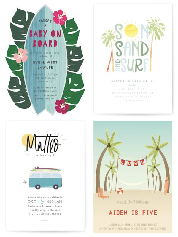 Surf Party Invitations
