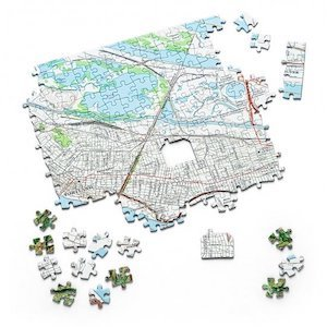 Home is Where the Heart Is Map Puzzle