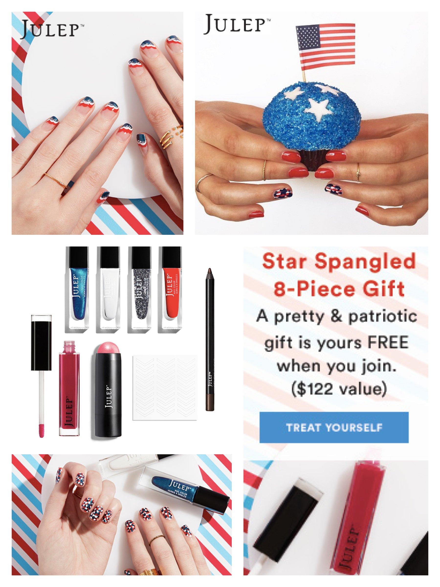 Julep Fourth of July Patriotic Nail Art