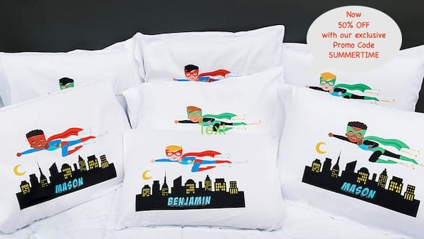 Personalized Superhero Pillowcases