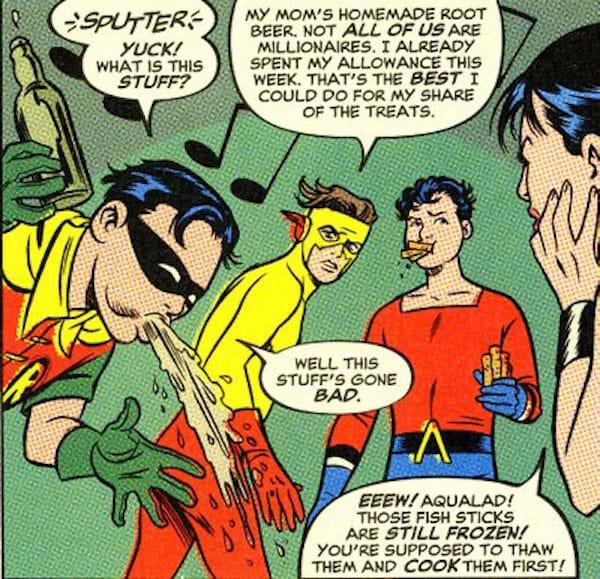 Robin Cartoon Suuperhero Drinks