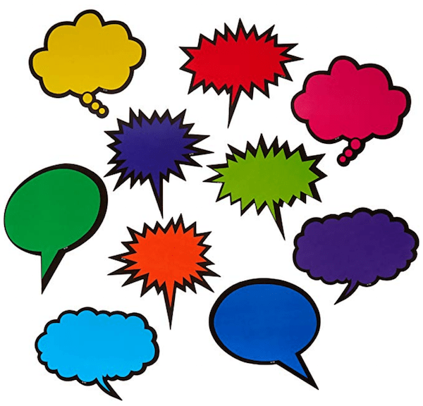 Speech Bubble Decals