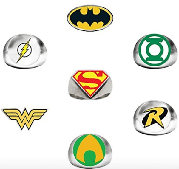 Superhero Emblem Rings
