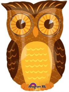 Owl Mylar Balloon