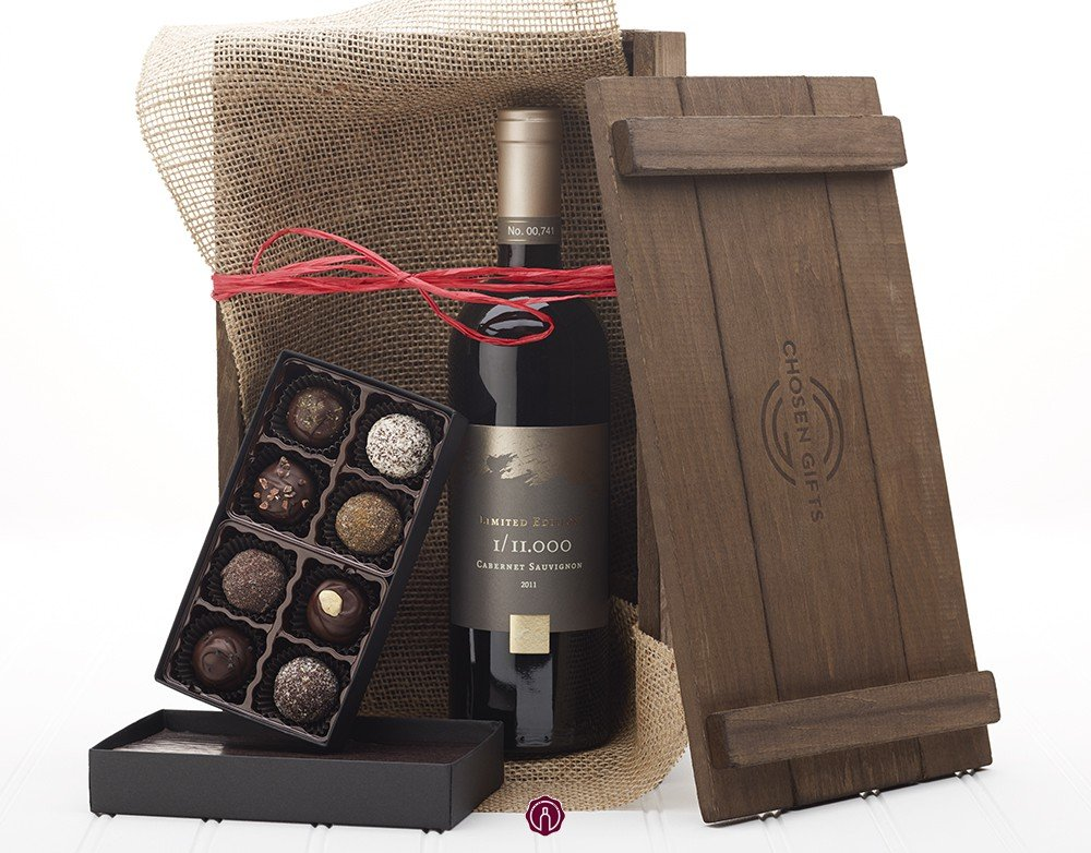 Chocolate and kosher Wine Gift