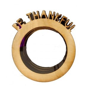 Be Thankful Wooden Napkin Rings