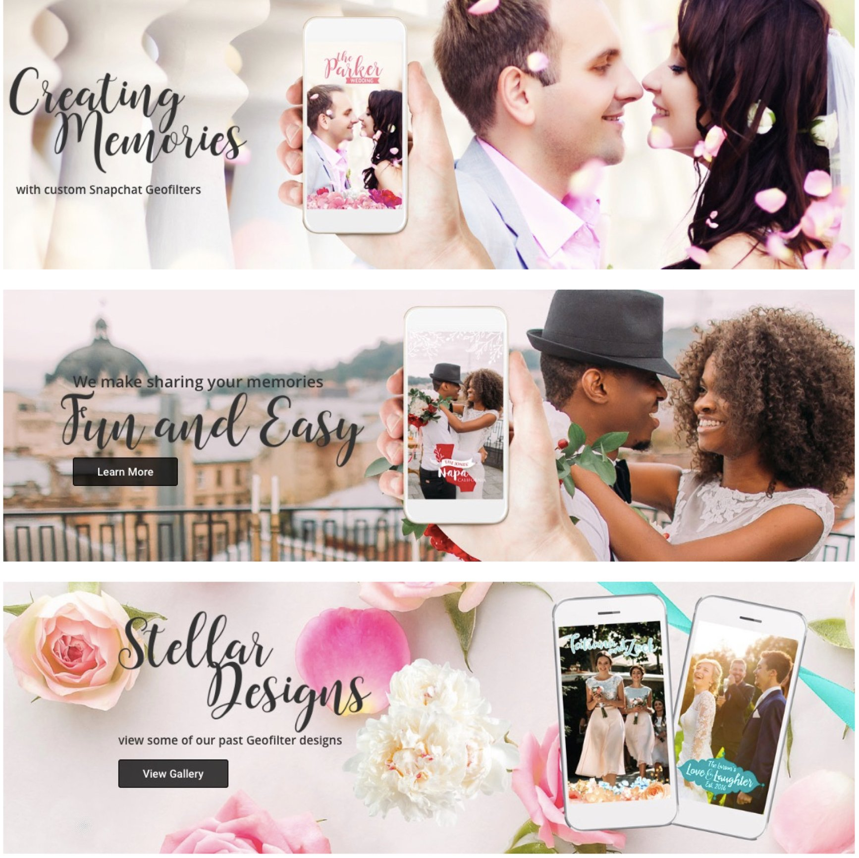 Filtered Vows Wedding Geofilters