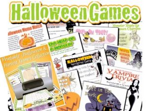 Halloween Printable Games