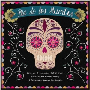 day of the dead dia de los muertos online invitations