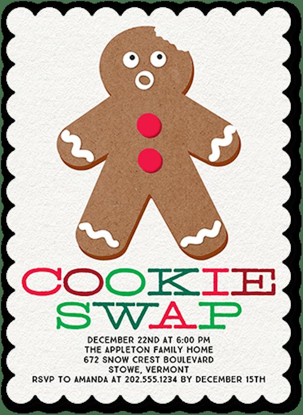 Gingerbread Goodness Holiday Invitation