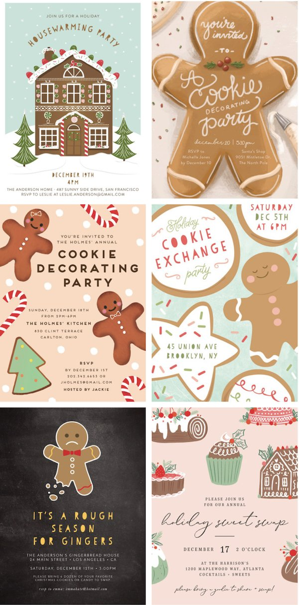 Gingerbread Party Invitations