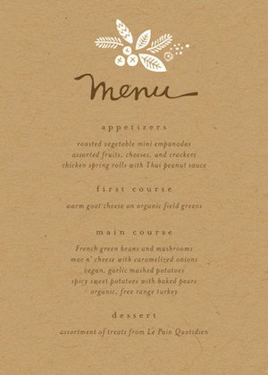 Rustic Harvest Thanksgiving Table Menu