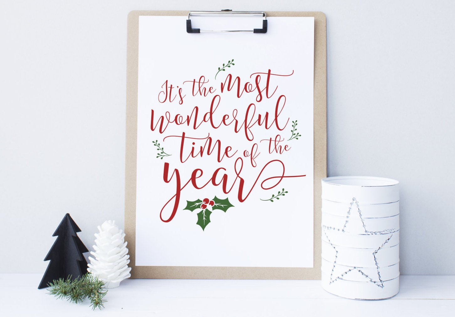 t's the most wonderful time of the year Printable Christmas Decor