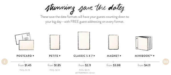 Minted Format Guide to Save the Dates