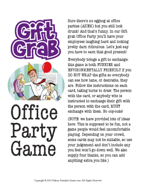 Holiday Gift Exchange Games | Printable Games | PartyIdeaPros.com