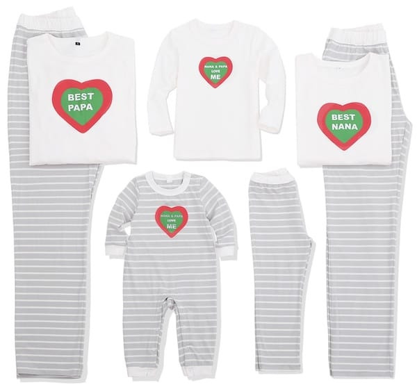Family Matching Heart Pajamas