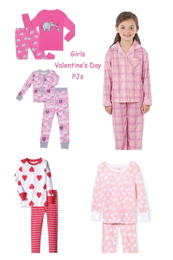 Girls Valentines Day PJs