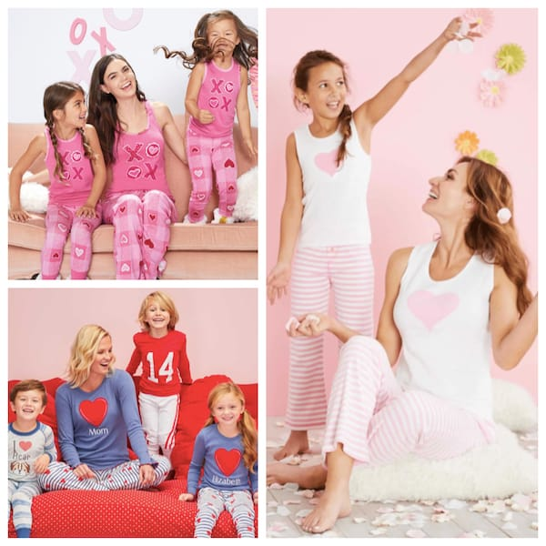 Matching Mommy and Me Valentines Day Pajamas