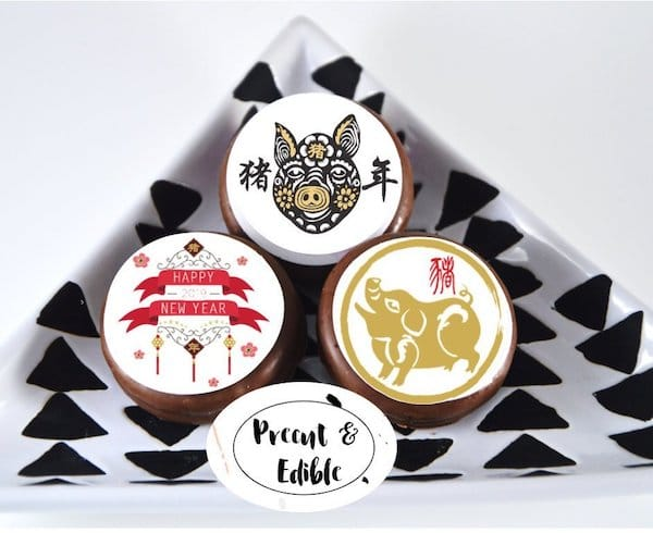 Chinese New Year Year of the Pig Oreo Topper Cupcake