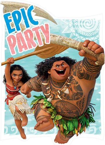 Disney Moana Postcard Invitations