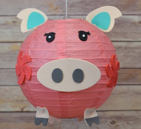 Pig Face Paper Lantern for Year of the Pig