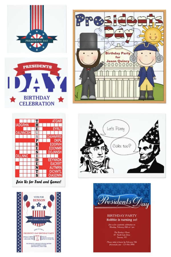 Presidents Day Party Invitations