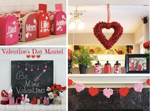 Valentines Day Mantel Decorations