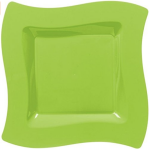 Green Wavy Paper Plates