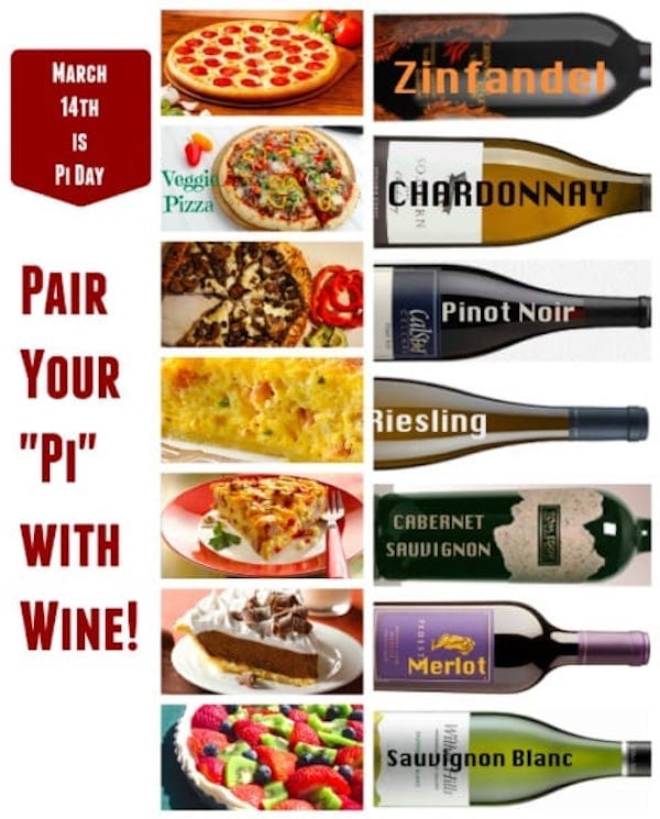 Pi Day Celebration >> Pair Your Pi with Wine