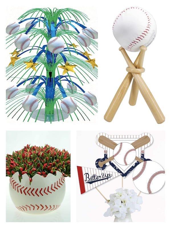 Baseball Centerpieces