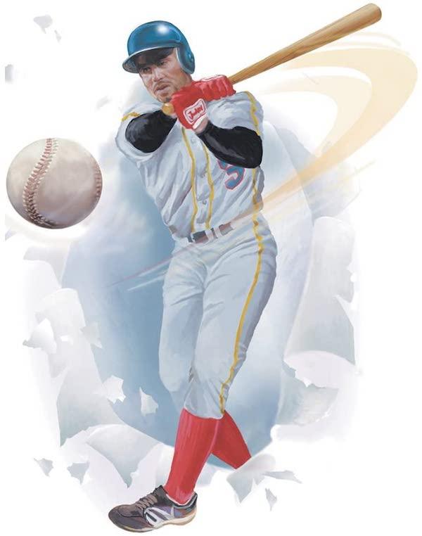 Baseball Player Peel & Stick Appliqué